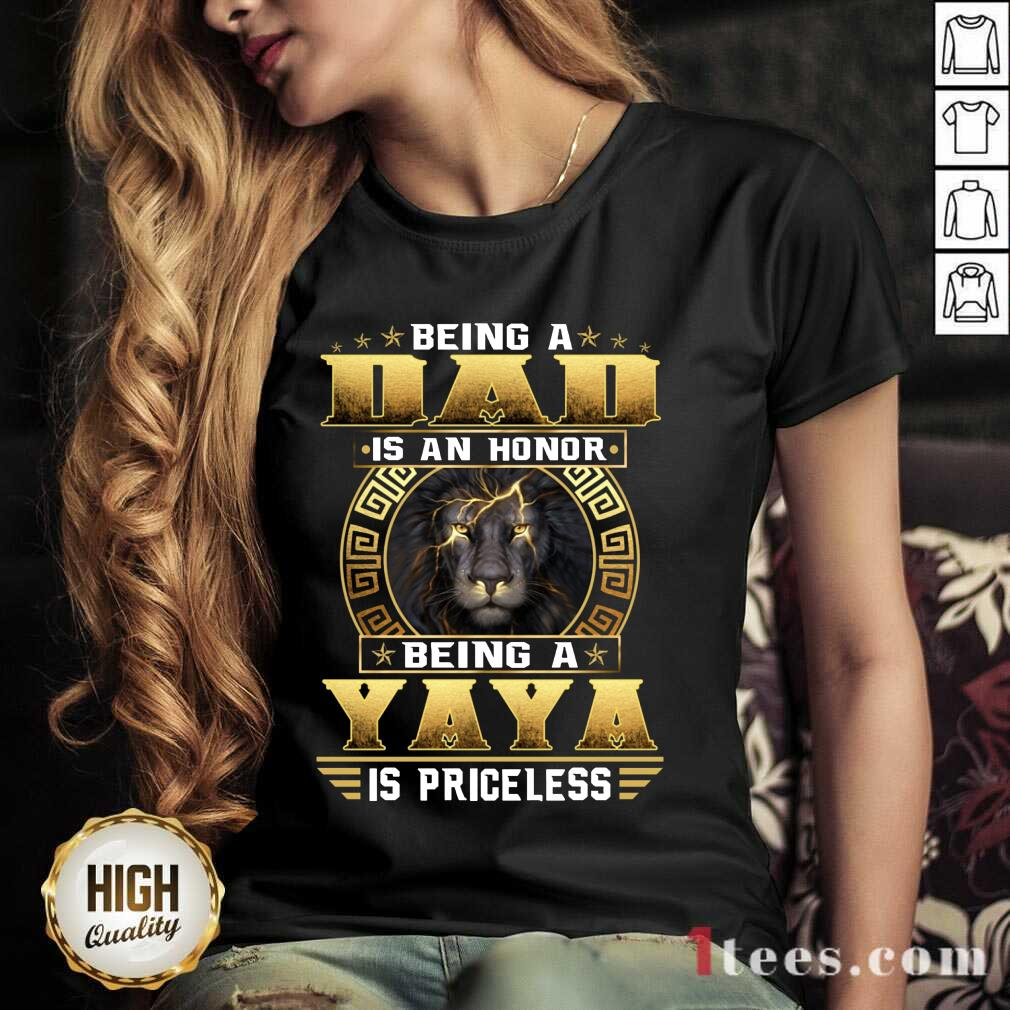 Being A Yaya Is Priceless Lion V-neck