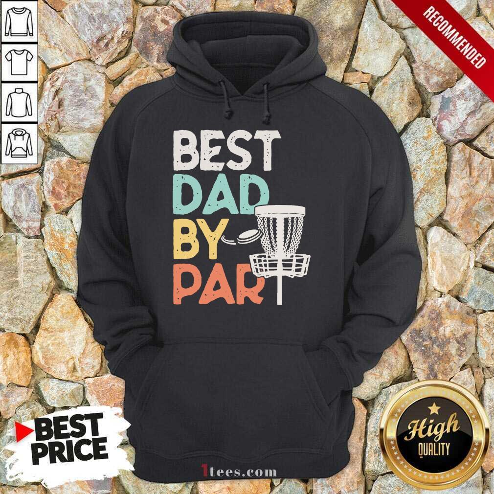 Best Dad By Par Disc Golf Vintage Hoodie