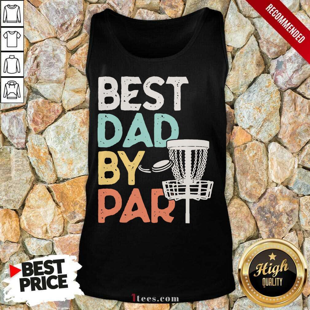 Best Dad By Par Disc Golf Vintage Tank Top
