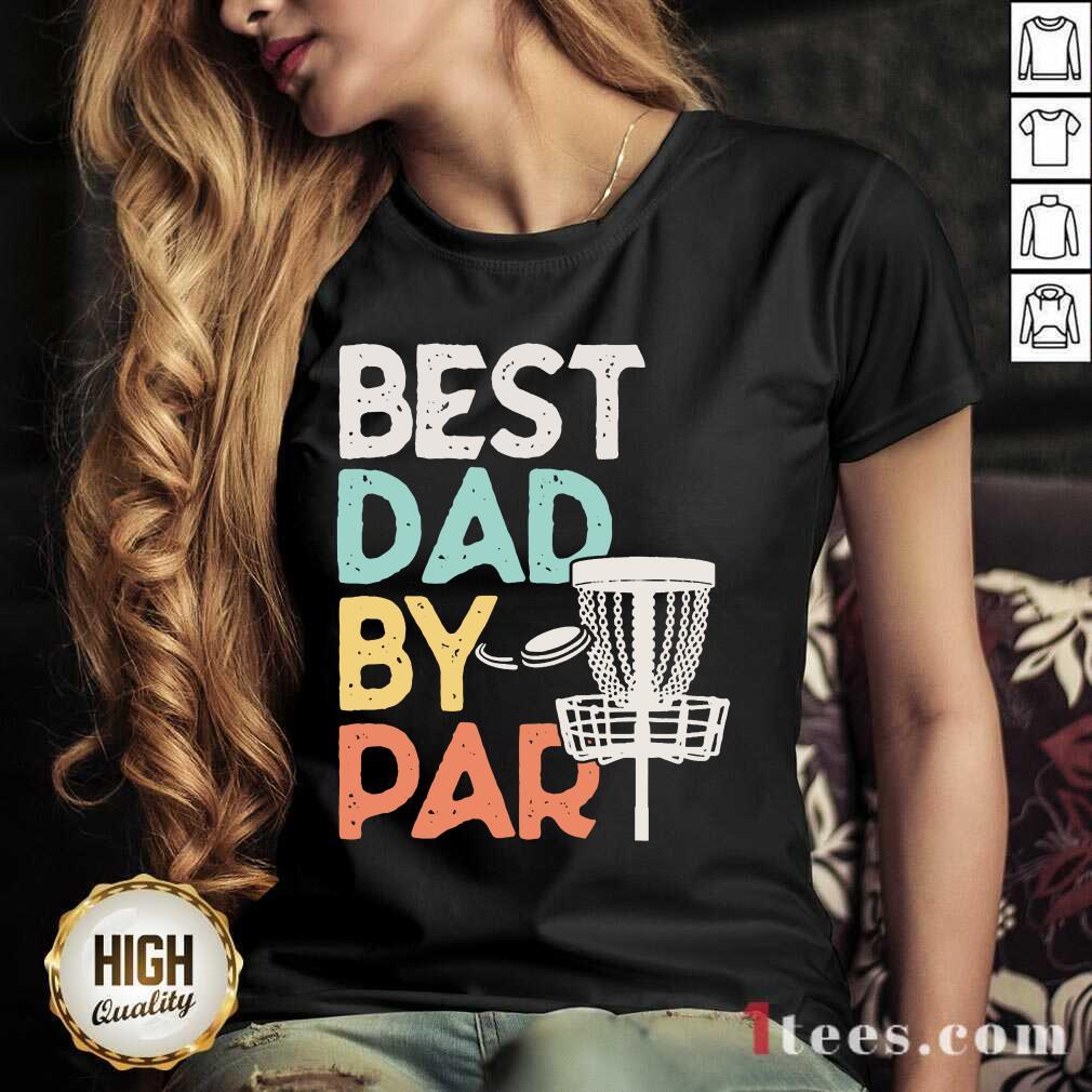 Best Dad By Par Disc Golf Vintage V-neck