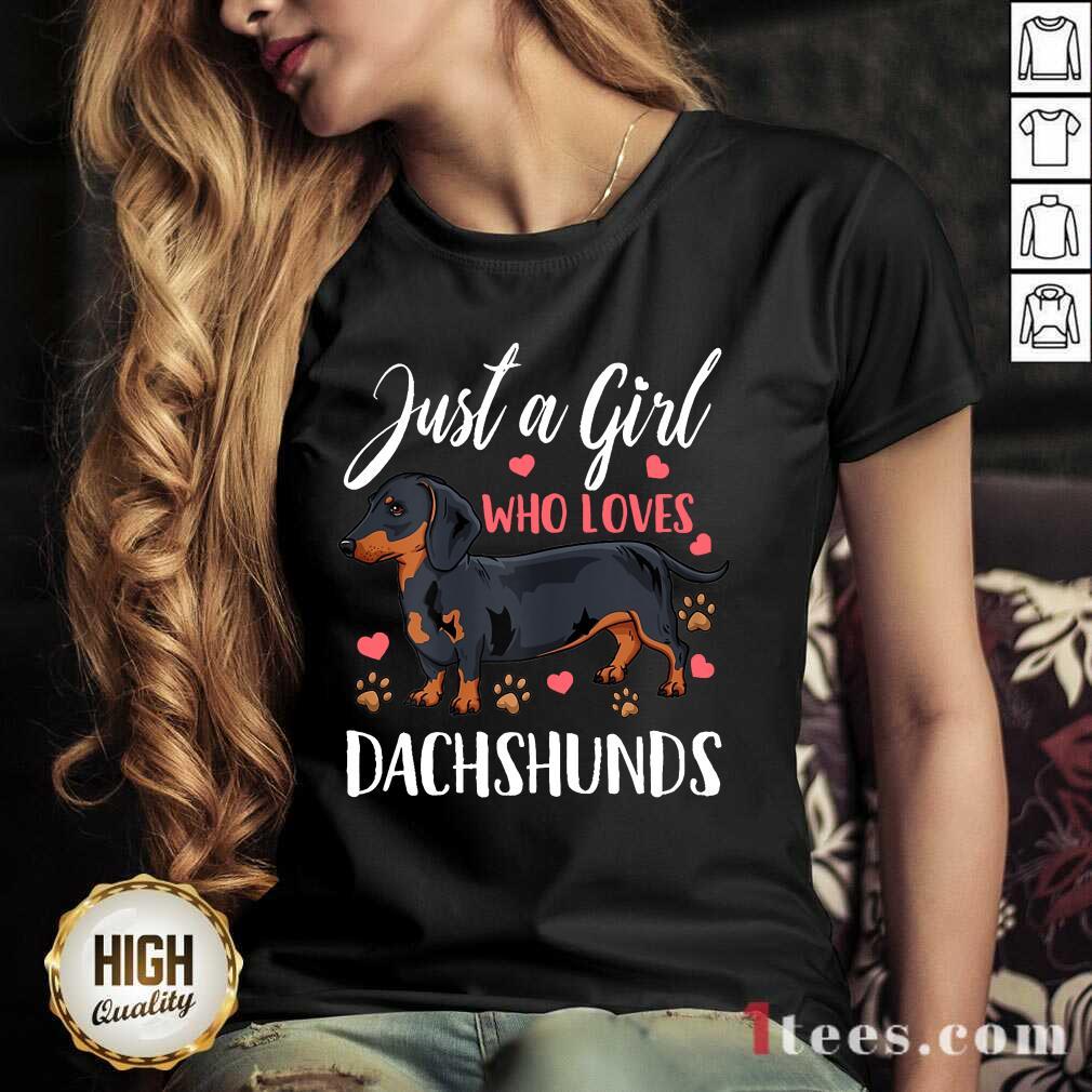 Dachshund Just A Girl Who Loves V-neck