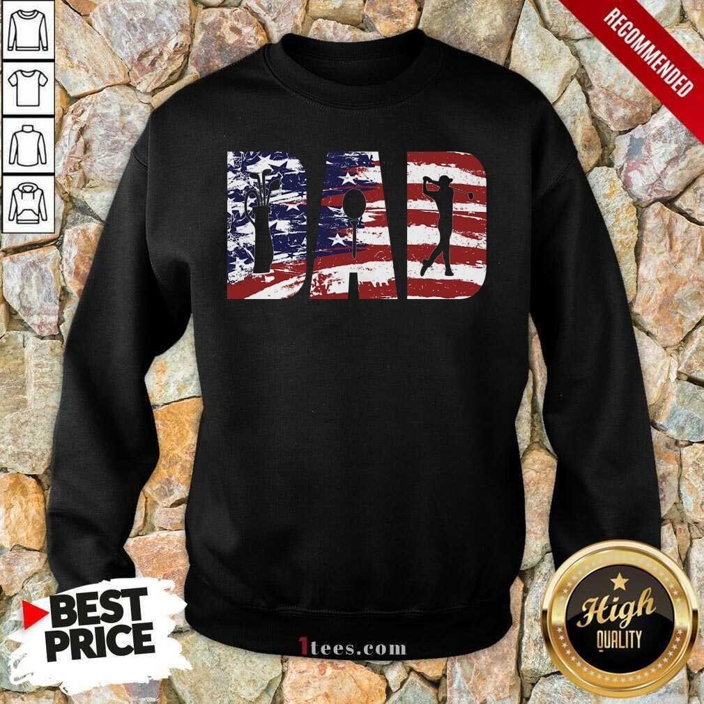 Dad American Flag Golf Sweatshirt