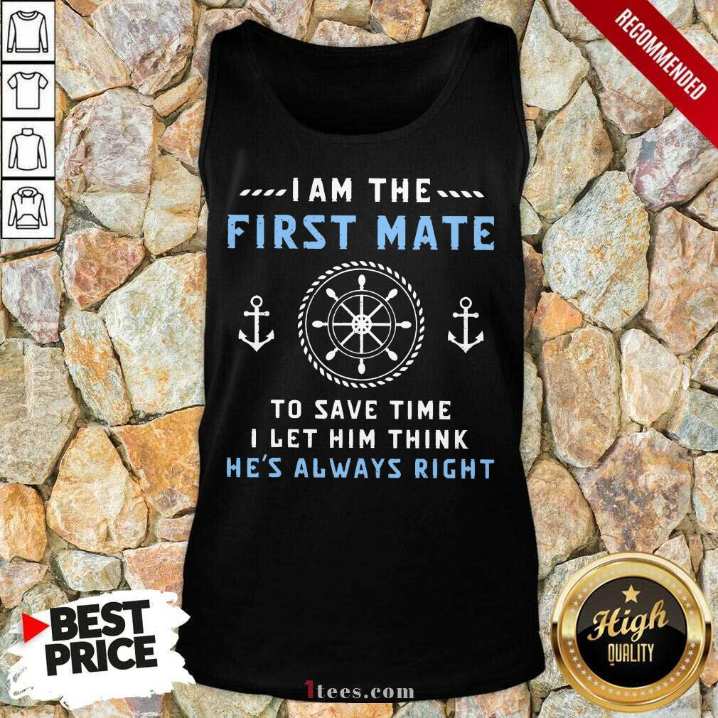 I Am The First Mate Captain Tank Top