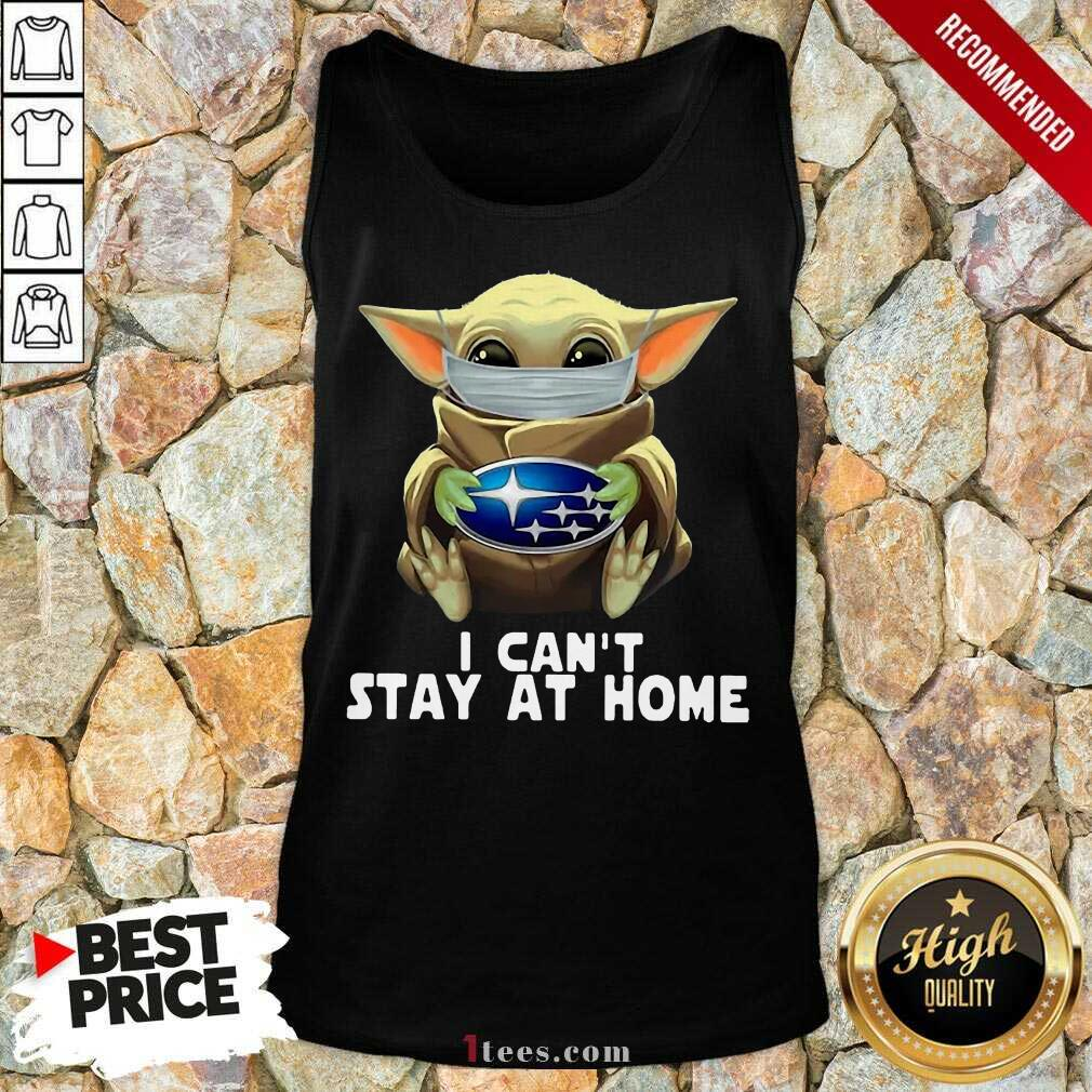 I Can't Stay At Home Yoda Tank Top