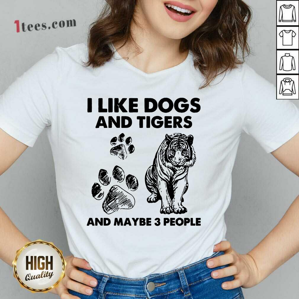 I Like Dogs And Tigers V-neck