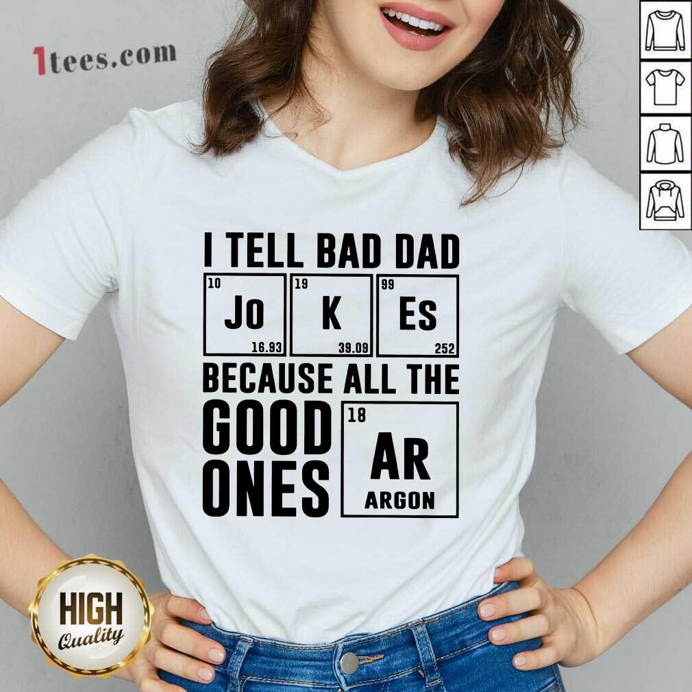 I Tell Bad Dad Jokes V-neck