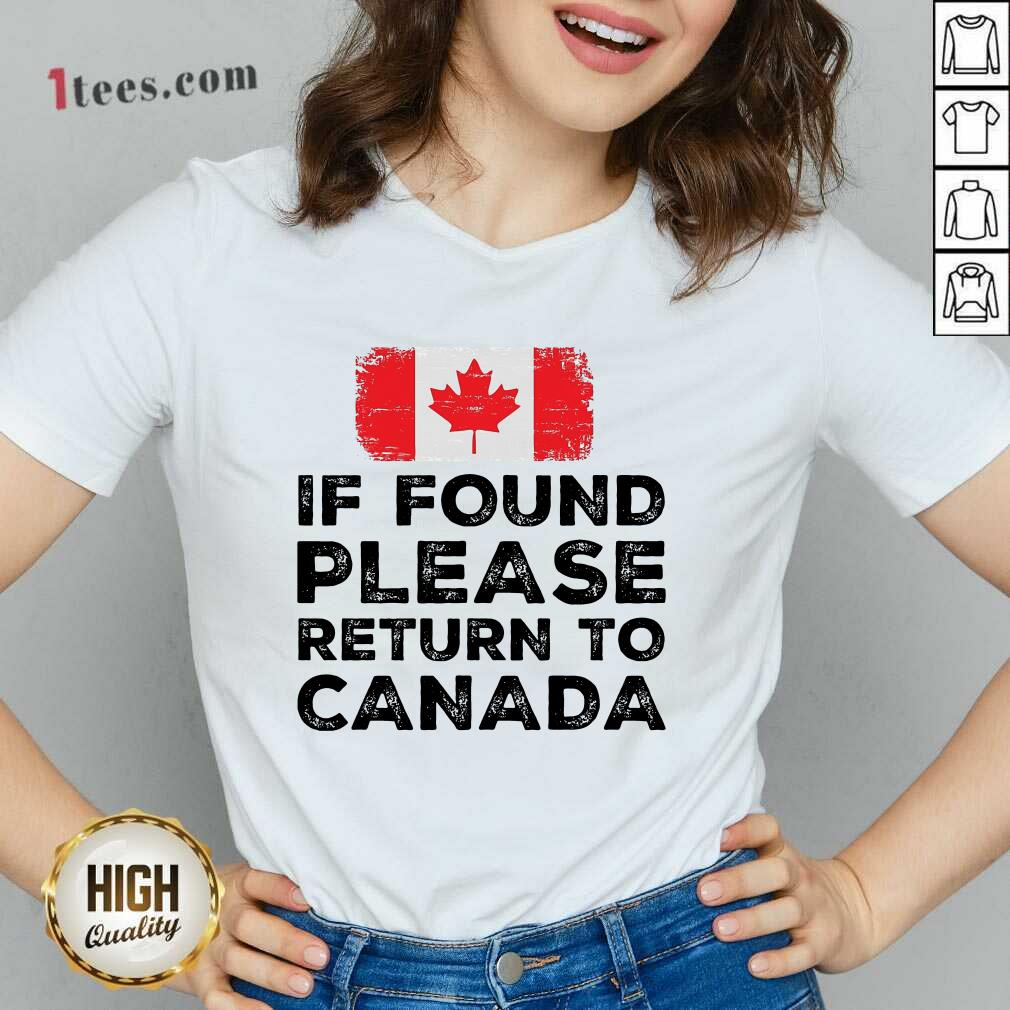 If Found Please Return To Canada V-neck