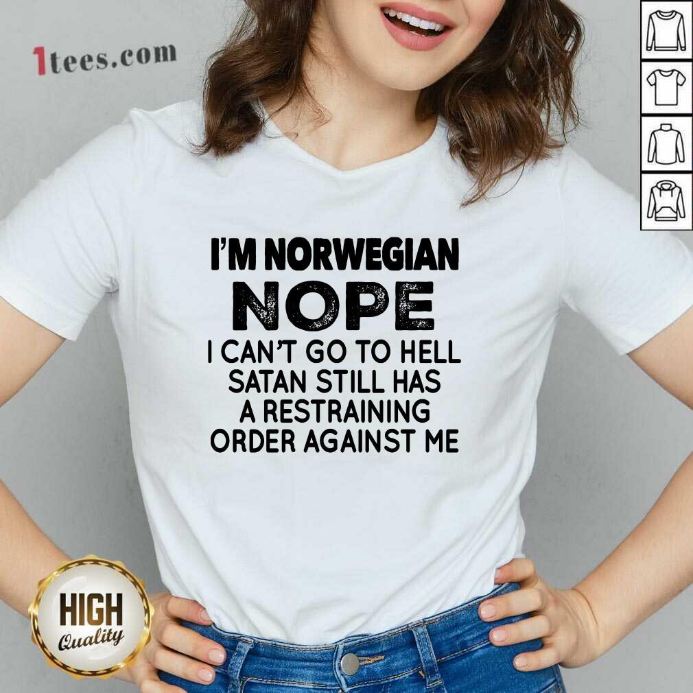 I'm Norwegian Nope V-neck