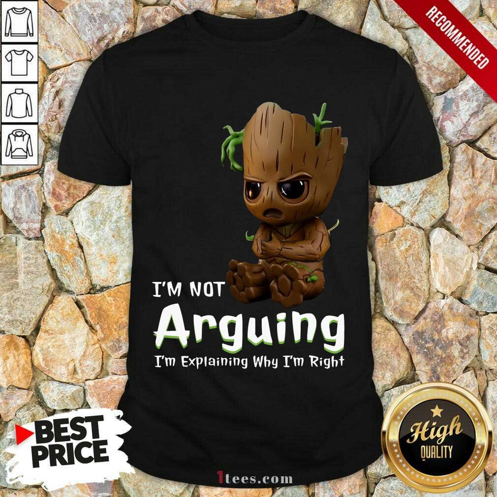 I'm Not Arguing Groot Shirt