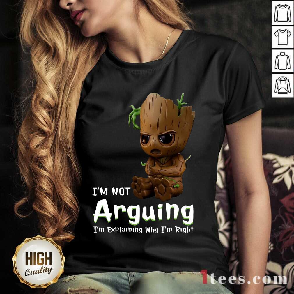 I'm Not Arguing Groot V-neck