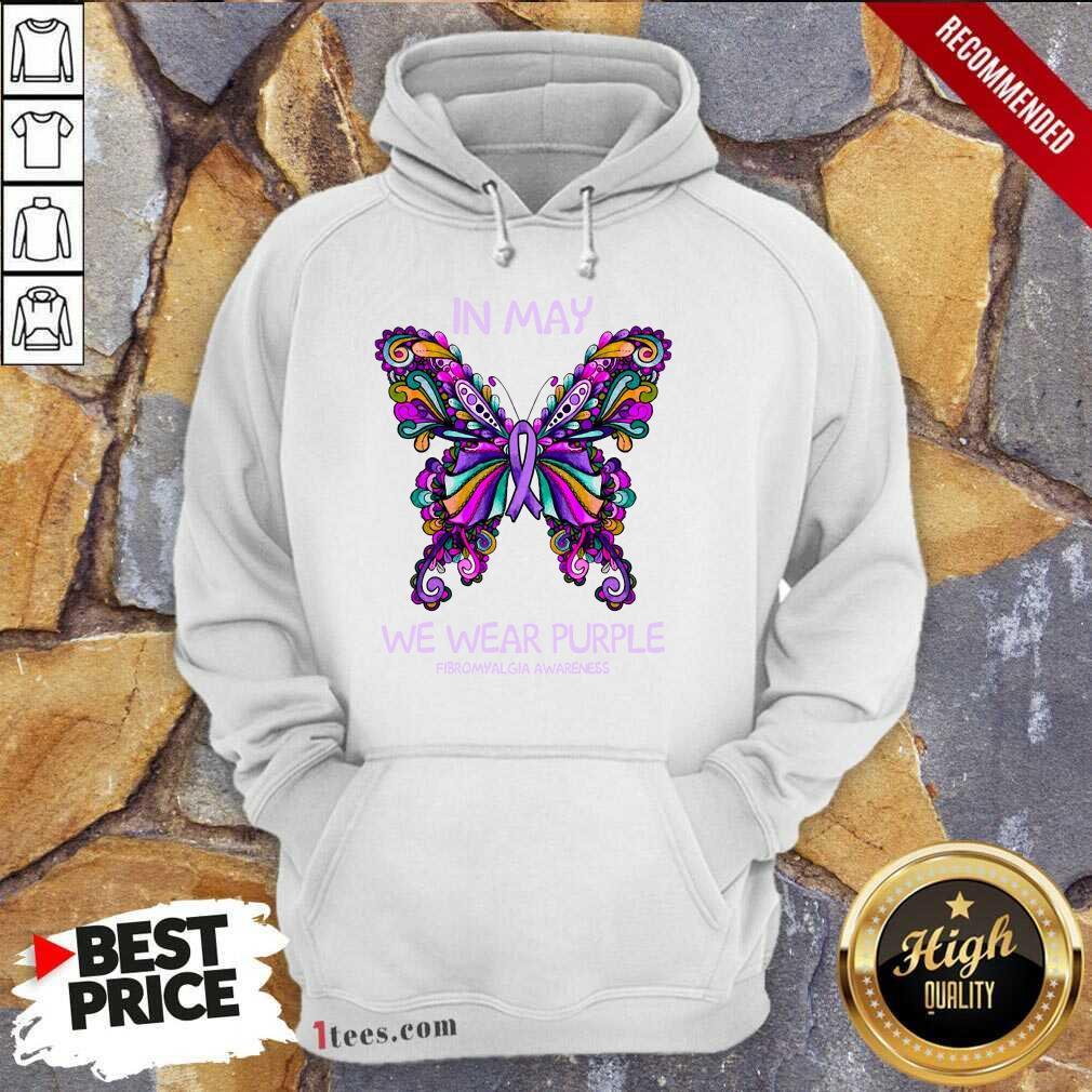 In May We Wear Purple Butterfly Hoodie