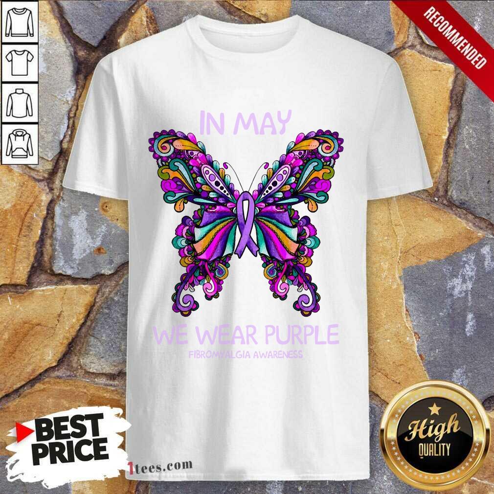 In May We Wear Purple Butterfly Shirt