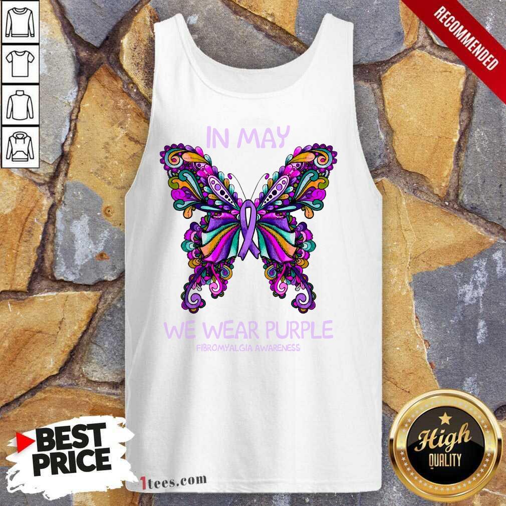 In May We Wear Purple Butterfly Tank Top