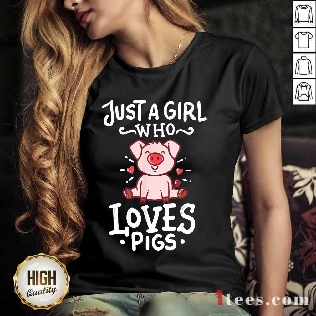 Just A Girl Who Loves Pigs V-neck