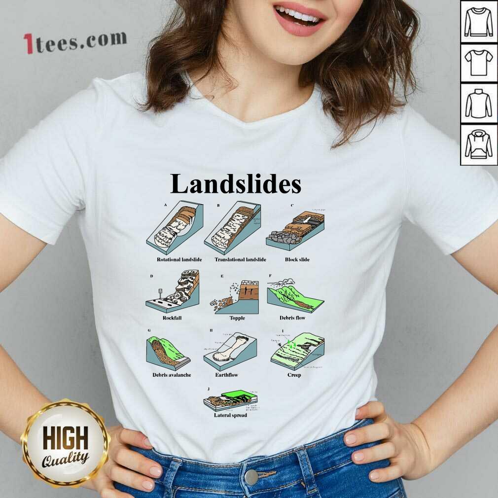 Landslide Types And Geology V-neck
