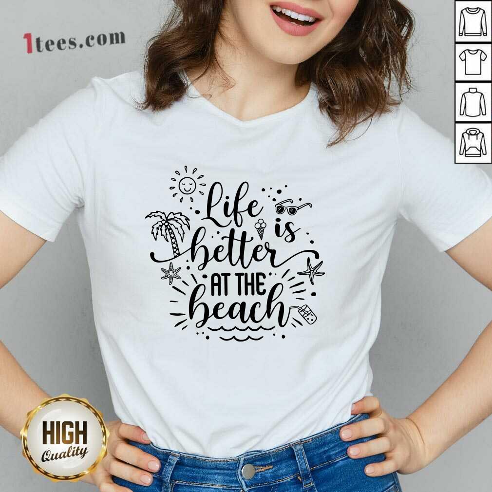 Life Better At The Beach V-neck