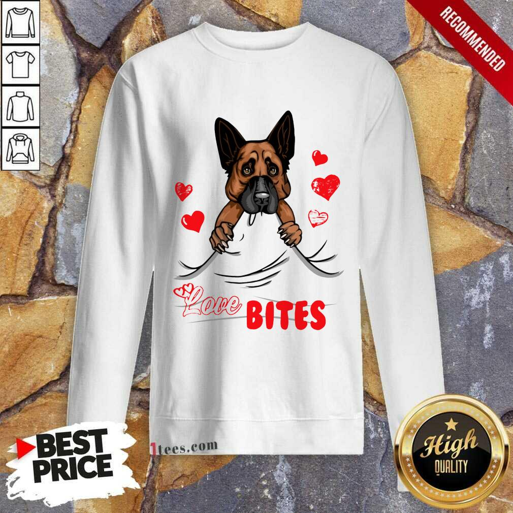 Love Bites Shepherd Dog Sweatshirt