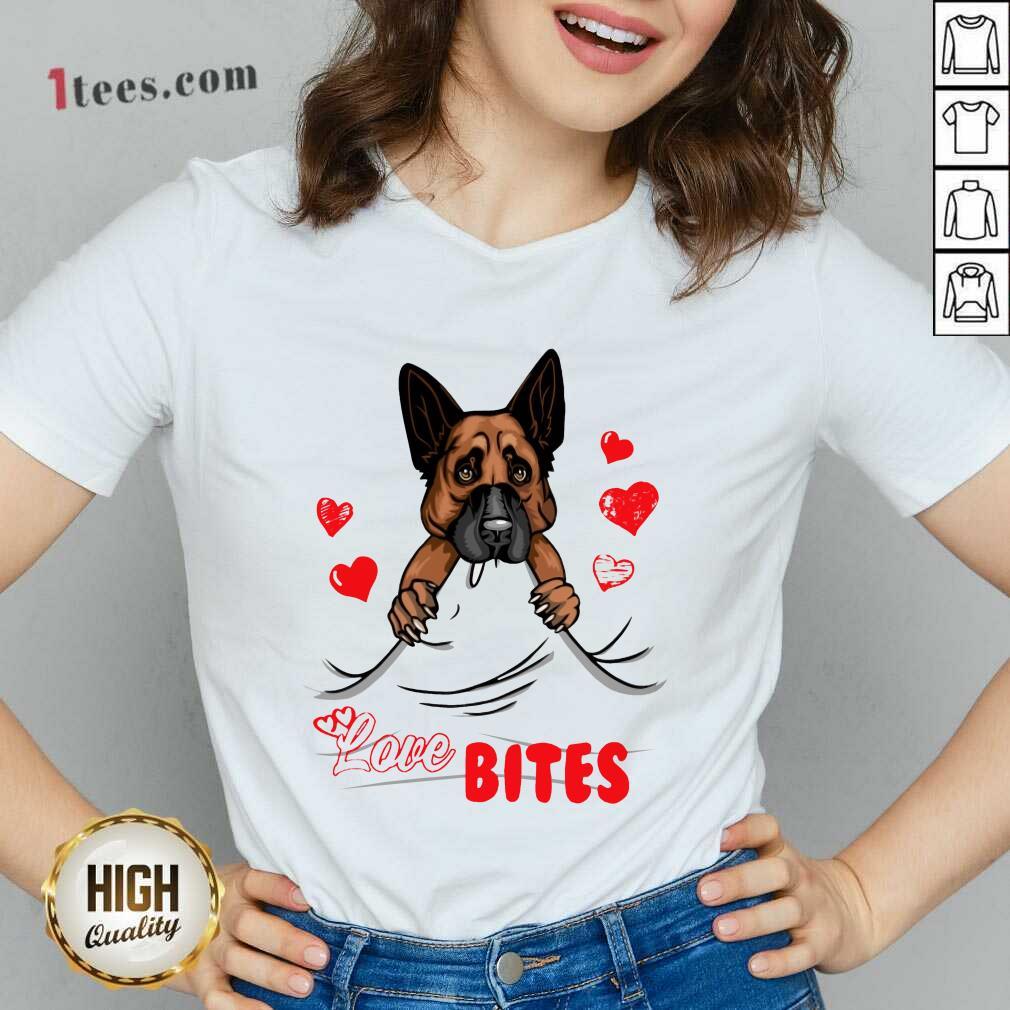 Love Bites Shepherd Dog V-neck