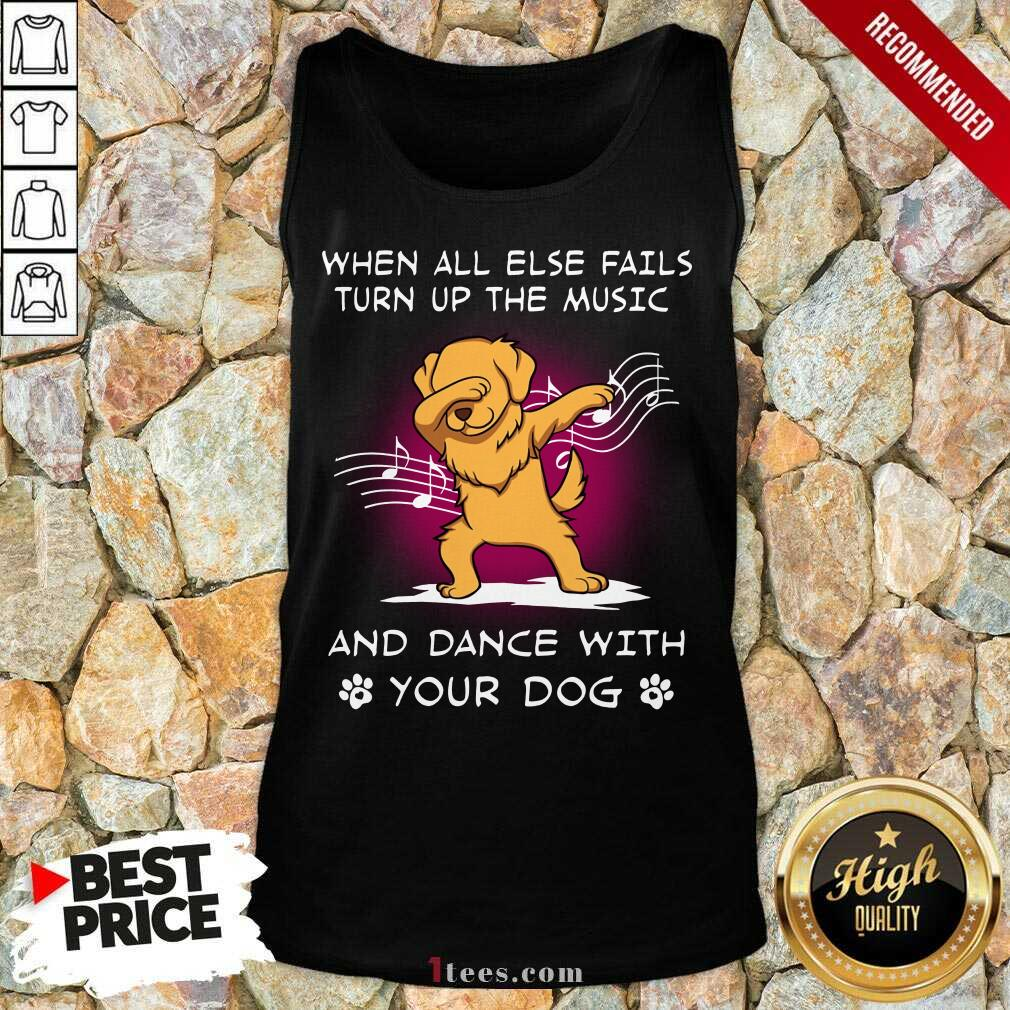 Music And Dance With Your Golden Dog Tank Top