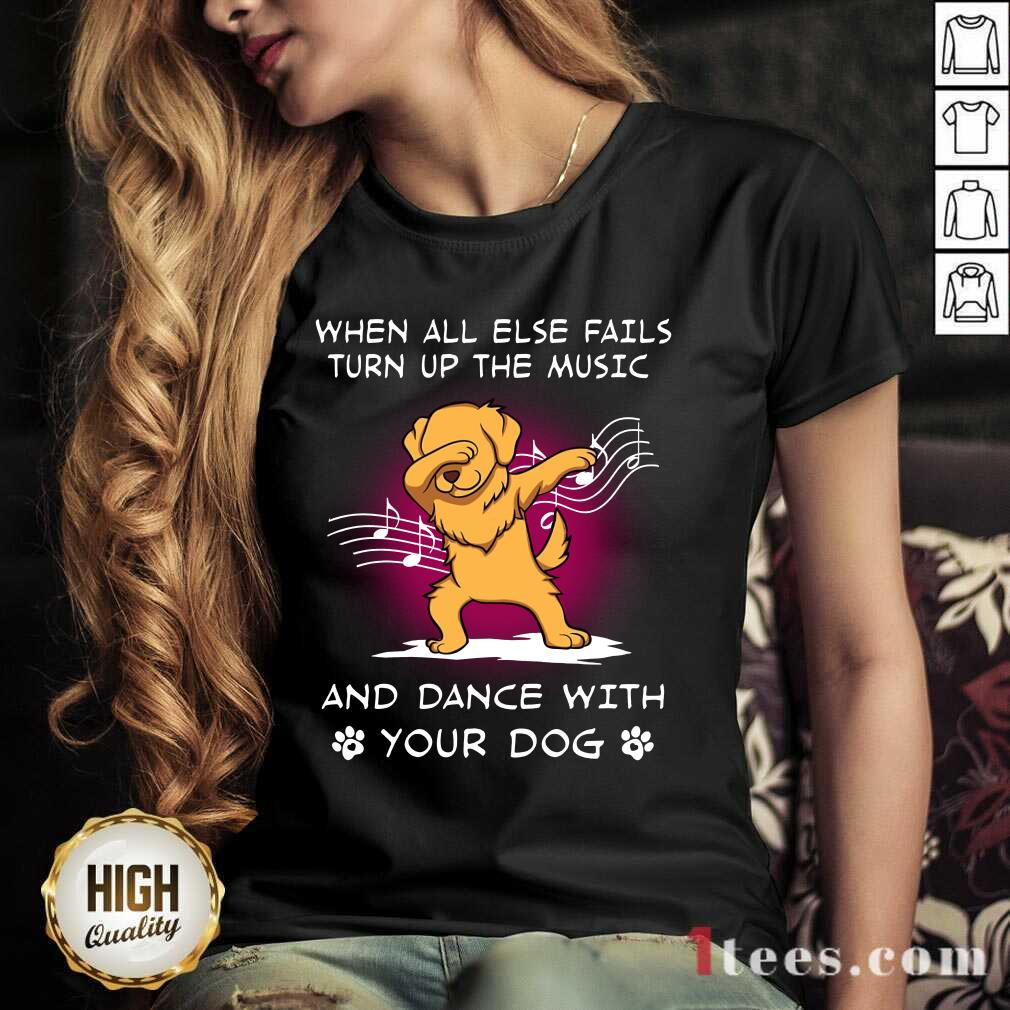 Music And Dance With Your Golden Dog V-neck