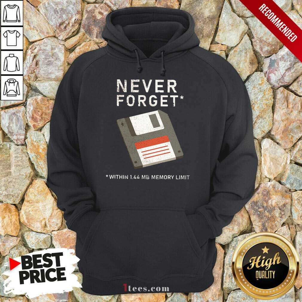 Never Forget Within 1.44 Mb Memory Limit Hoodie