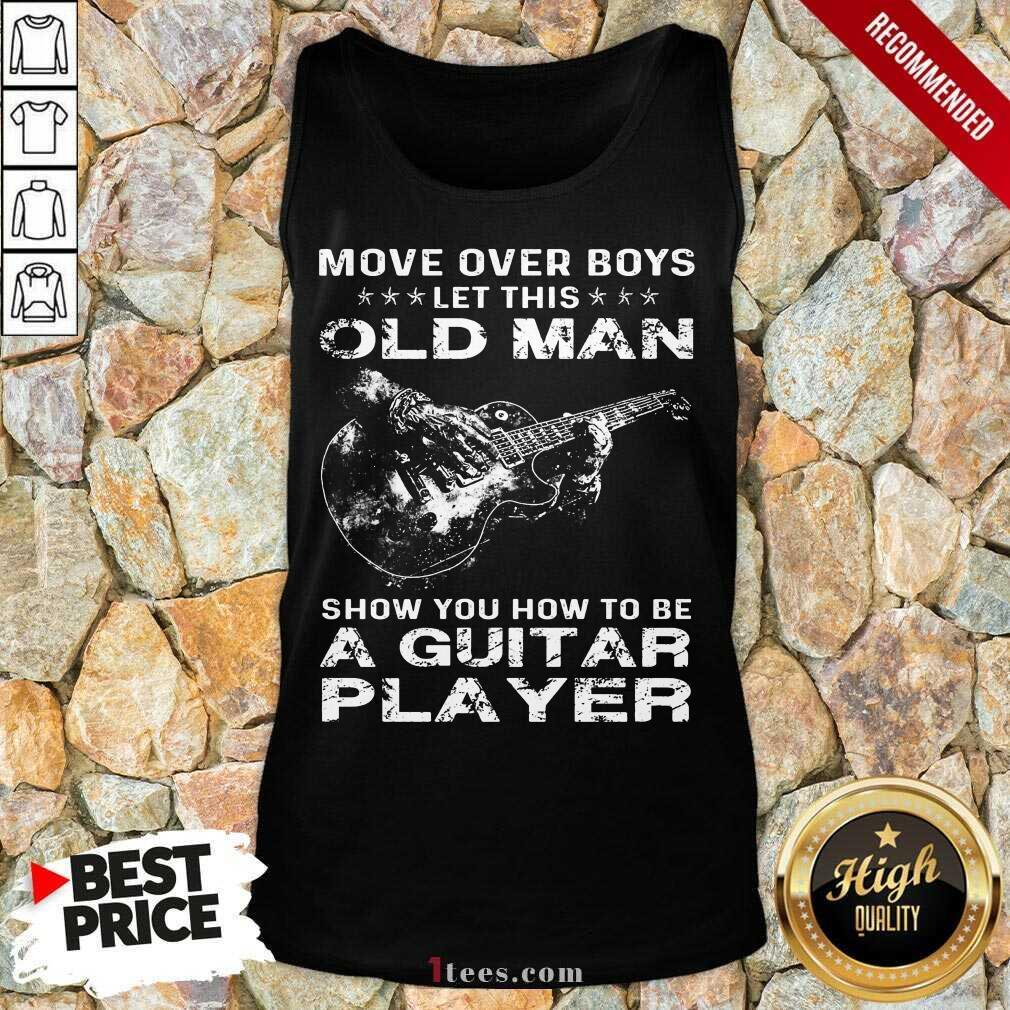 Old Man A Guitar Player Tank Top