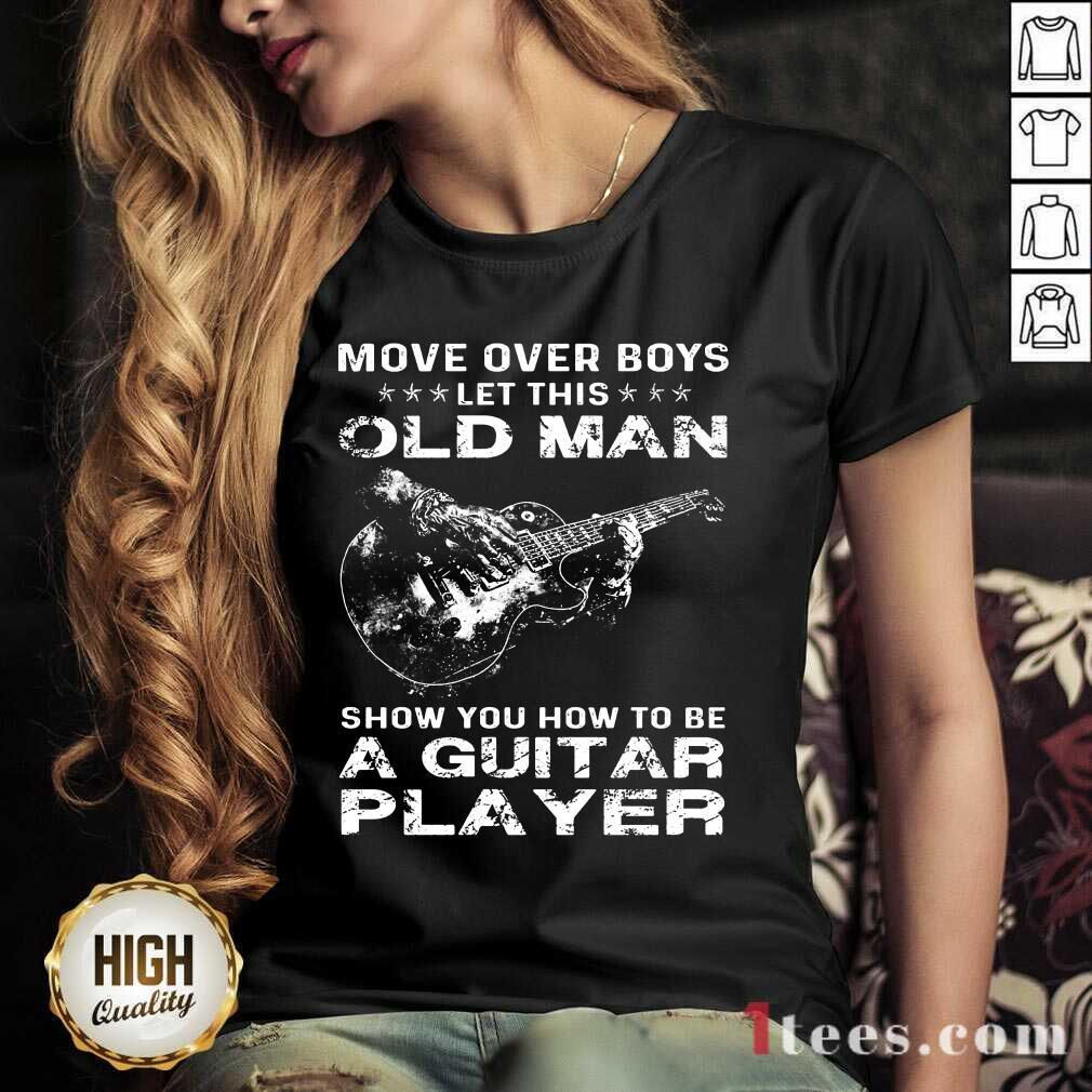 Old Man A Guitar Player V-neck
