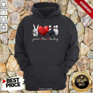 Peace Love Bowling Hoodie