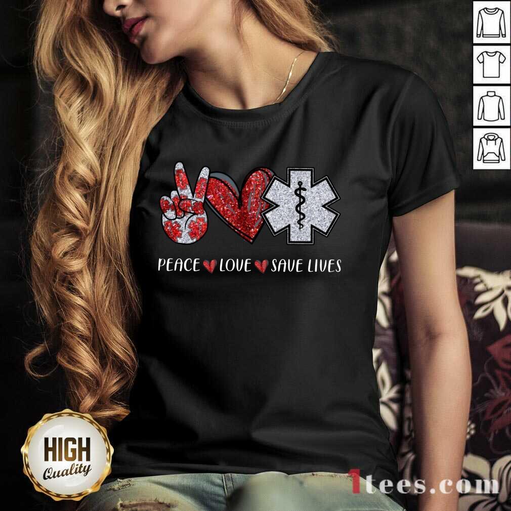 Peace Love Save Lives V-neck