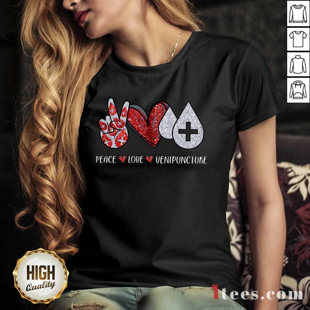 Peace Love Venipuncture V-neck