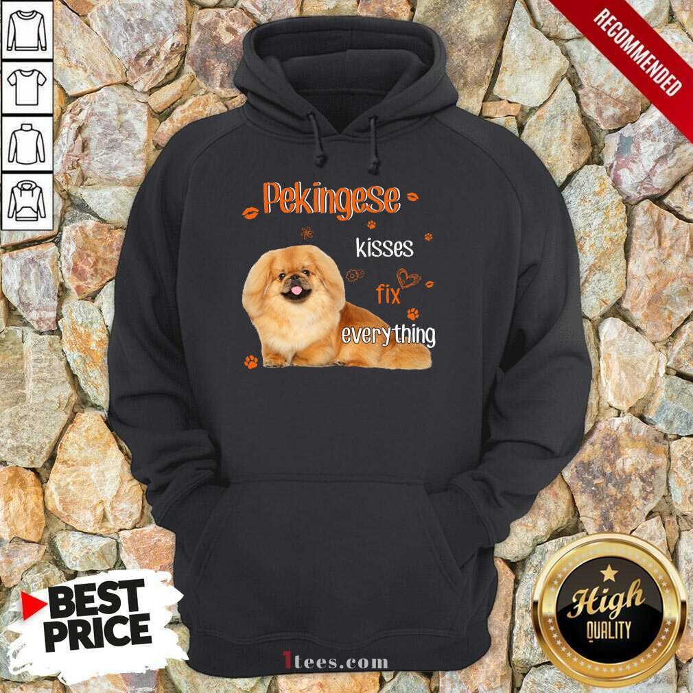 Pekingese Kisses Fix Everything Dog Hoodie