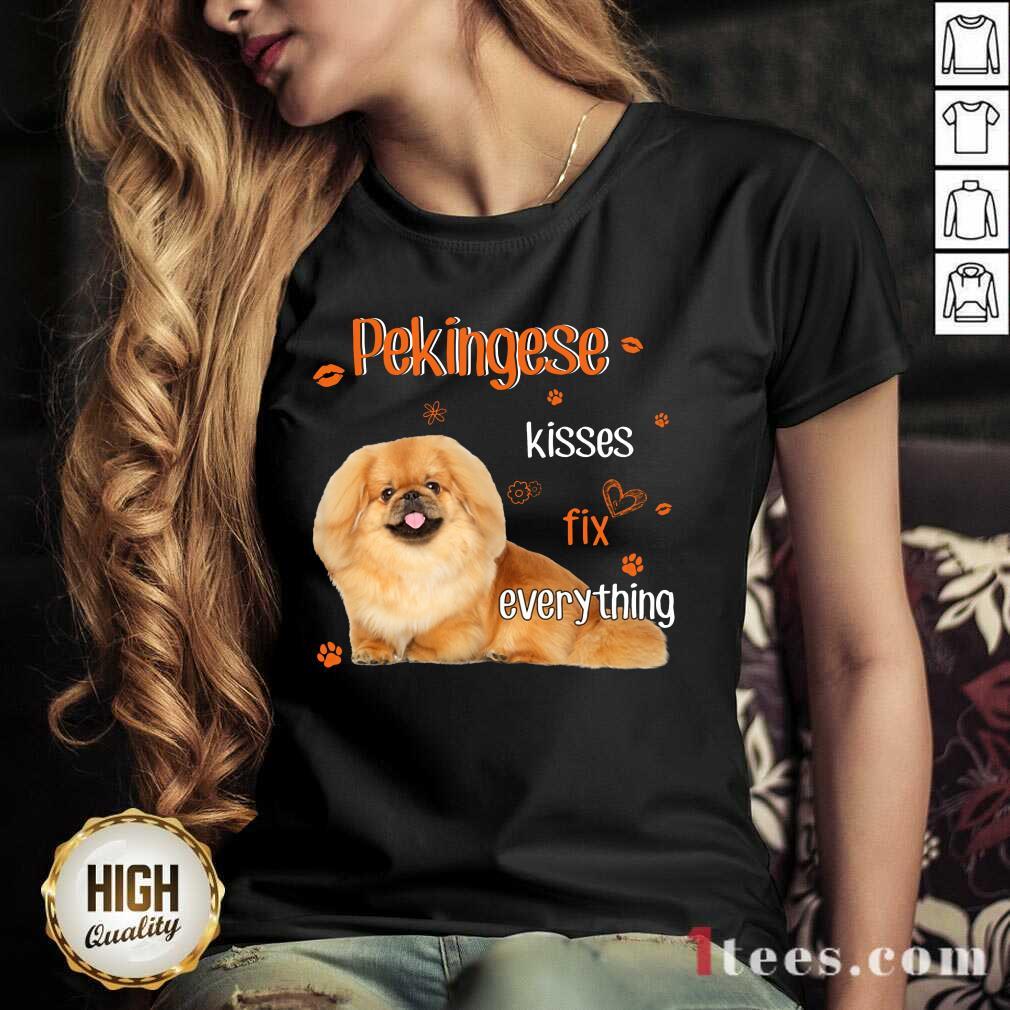 Pekingese Kisses Fix Everything Dog V-neck