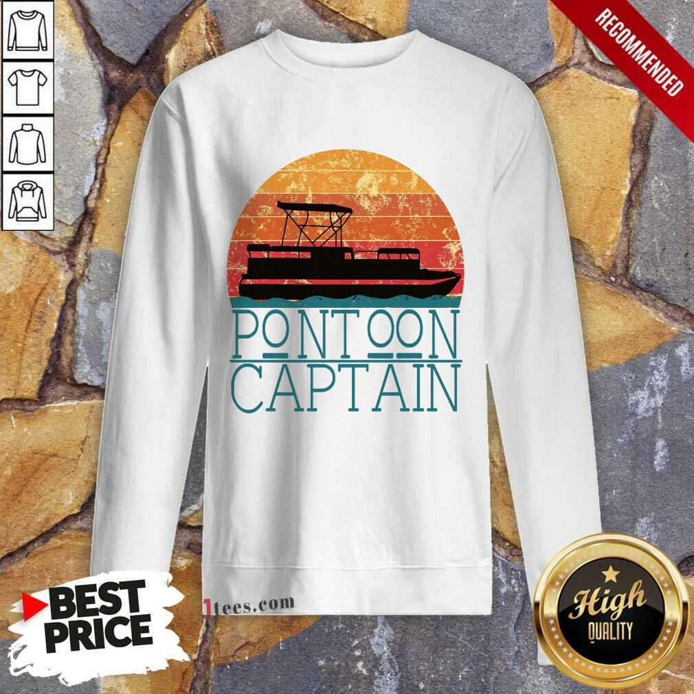 Pontoon Captain Vintage Sweatshirt