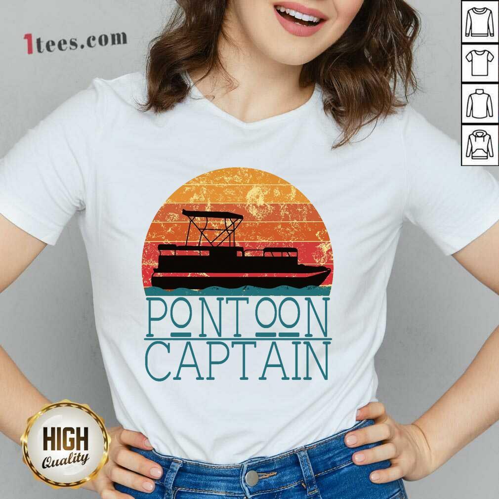 Pontoon Captain Vintage V-neck