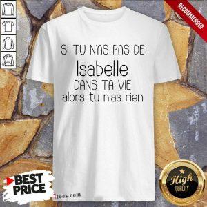 Si Tu Nas Pas De Isabelle Shirt