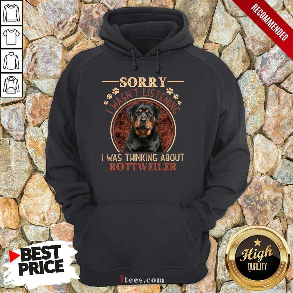 Sorry I Was Thinking About Rottweiler Hoodie