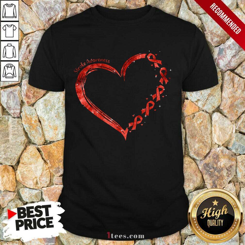 Stroke Awareness Heart Shirt