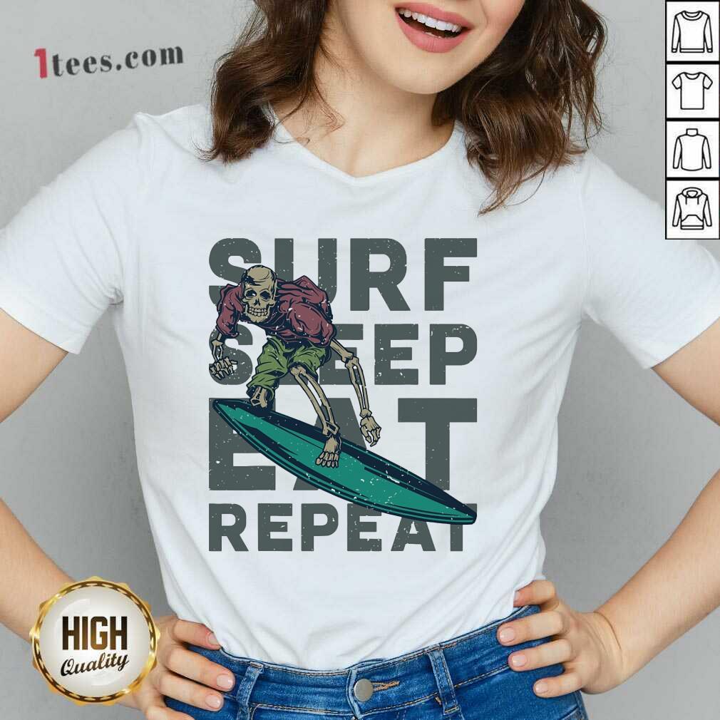 Surf Sleep Eat Repeat V-neck