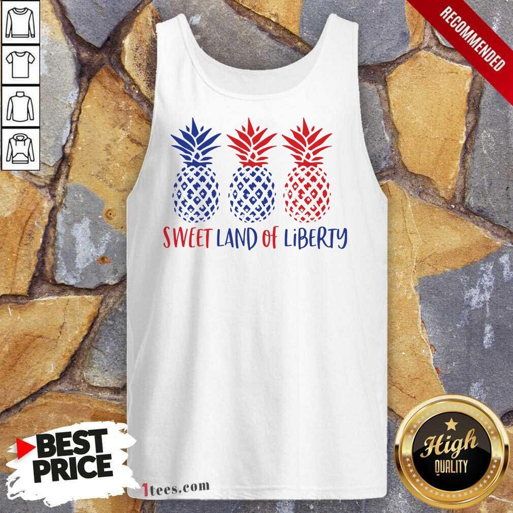 Sweet Land Of Liberty Pineapple Tank Top