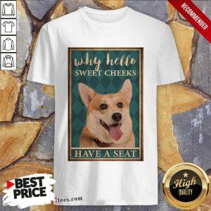 Why Hello Sweet Cheeks Coggy Dog Shirt