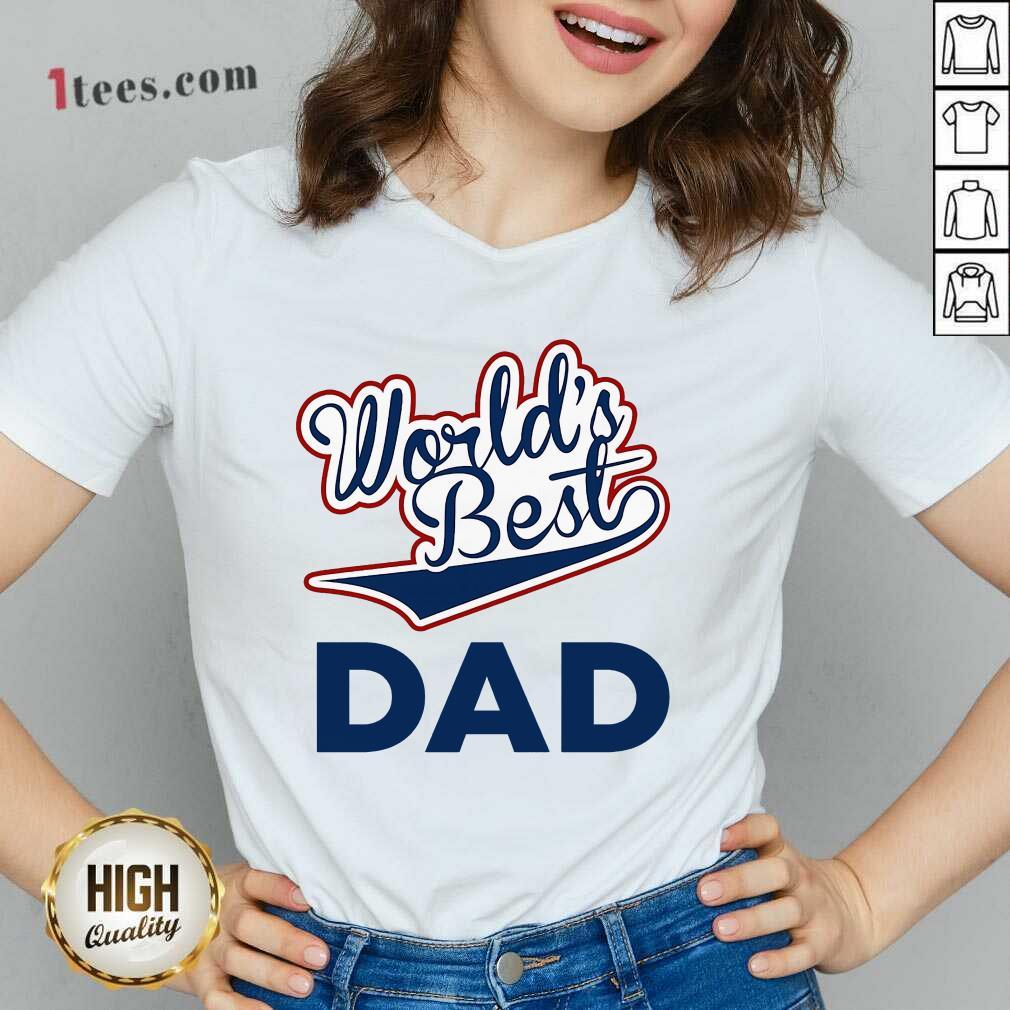 World's Best Dad V-neck