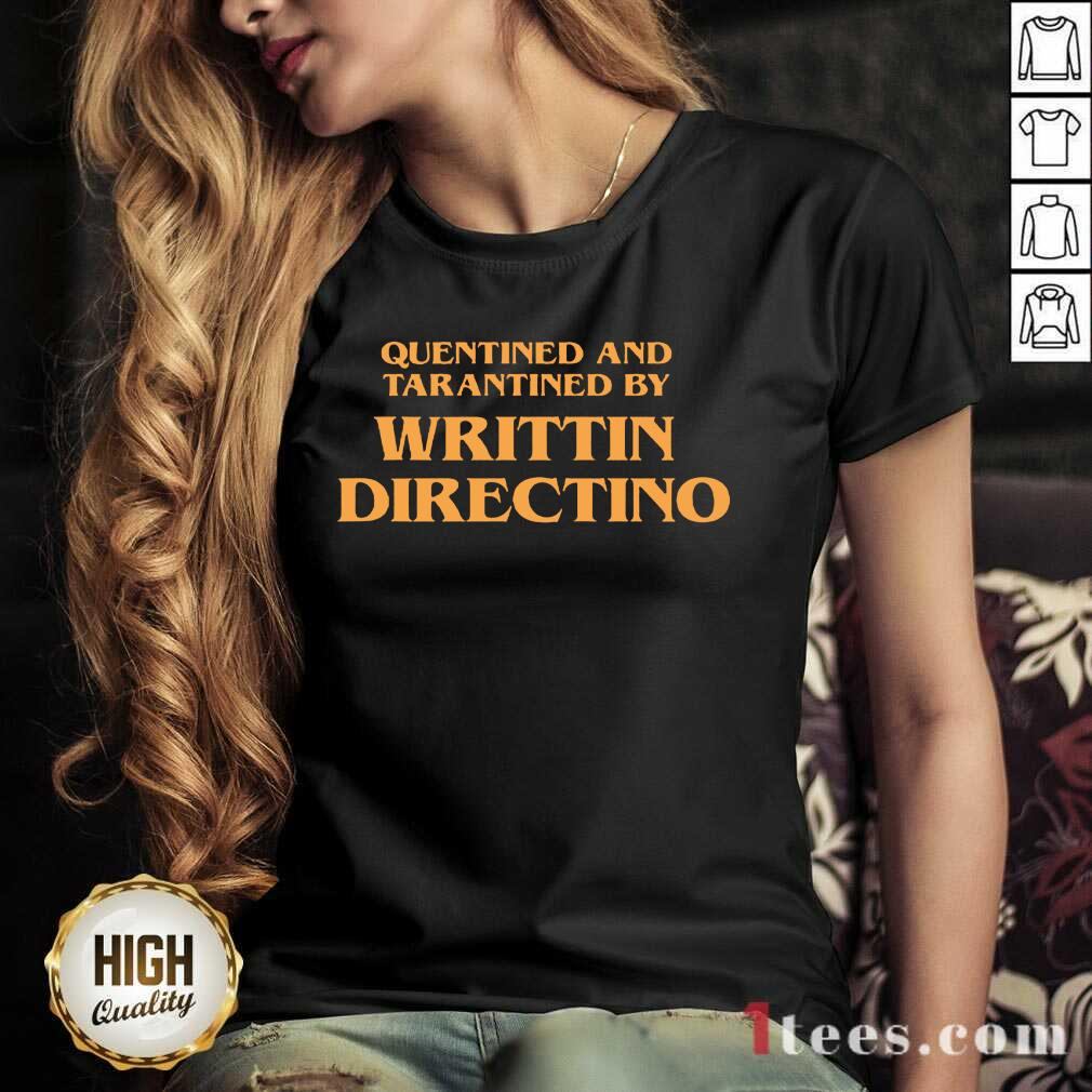 Writtin Directino V-neck