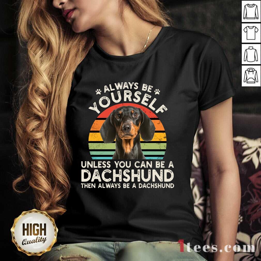 Yourself Dachshund Vintage V-neck