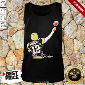 12 Aaron Rodgers Green Bay Packers Signature Tank Top