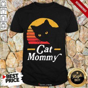 Black Cat Mommy Vintage Shirt