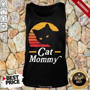 Black Cat Mommy Vintage Tank Top
