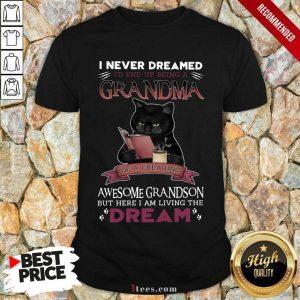 I Never Dreamed A Grandma Black Cat Shirt