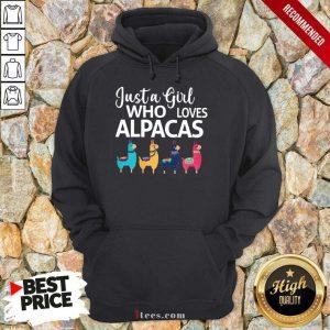 Just A Girl Who Loves Alpacas Hoodie