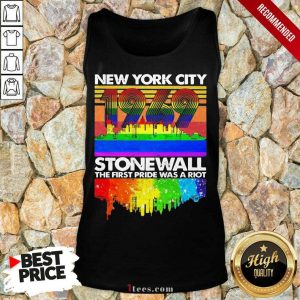 New York City 1969 Stonewall The First Pride Was A Riot Vintage LGBT Tank Top