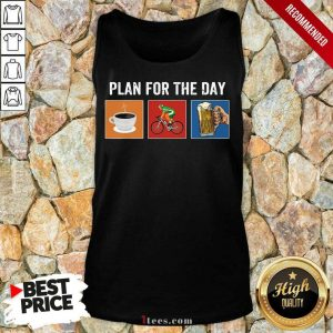 Plan For The Day Coffee Bicycle Beer Tank Top